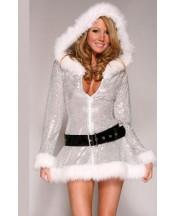 Sexy Girl - Christmas Silver Jacket