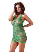 Grønn Minikjole med Blonder - One Size