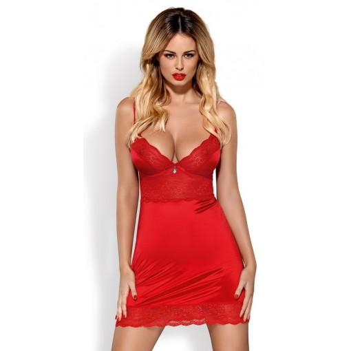 Obsessive - Lingerie Dress - Rød