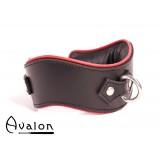 Avalon - GUARDED - Collar med god Polstring, Svart og Rødt