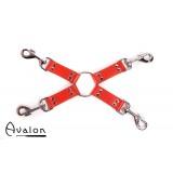 Avalon - RITUAL - Rødt Hog-tie-sett med 4 deler