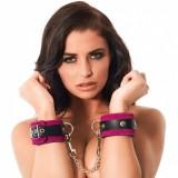 Rimba - Håndcuffs i lær, rosa