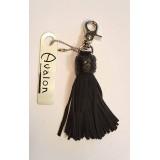 Avalon - Kort nøkkelring flogger, sort
