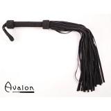 Avalon - Stor sort flogger i mykt semsket lær