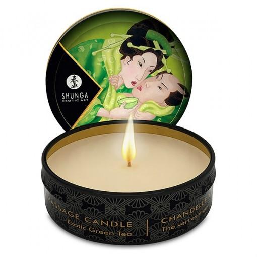 Shunga Zenitude - Massasjelys Grønn te 30 ml