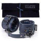 Fifty Shades Darker - Hånd cuffs i blått lær