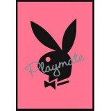 Playboyplakat - Rosa/Sort 40x60