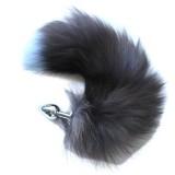 BQS - Buttplug med sort og blå hale