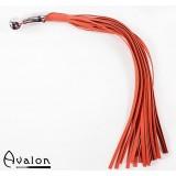 Avalon - Rød Flogger med bøyd kulehåndtak