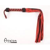 Avalon - Stor sort og rød flogger i mykt semsket lær