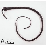 Avalon - Bullwhip heavy handle, Sort 1,3 m