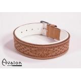 Avalon - Collar med nydelig mønster - Brun og hvit