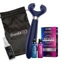 Parpakke med Satisfyer Multifun 3, Infuse Orgasmekrem, Stor Oppbevaringspose og Liten Rens - Blå