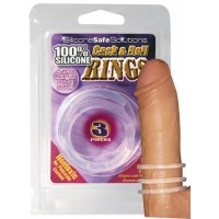 Cock & Balls Rings Clear - 3 stk Penisringer