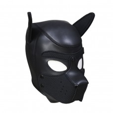 Neoprene Puppy dog - Sort Hundemaske - Large