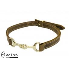 Avalon - Viking- Bit - Brunt Collar med gullfarget bitt